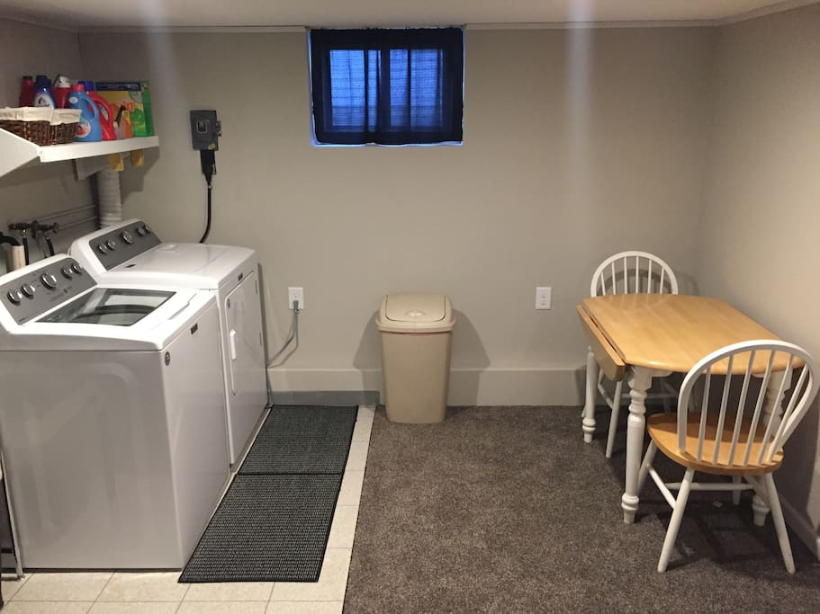 Washer and dryer available upon request.