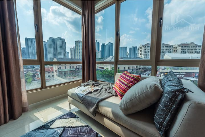 Luxury BestView Suite Near KLCITY Bathtub Netflix