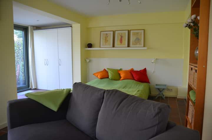 agréable flat avec terrasse et vue sur jardin
