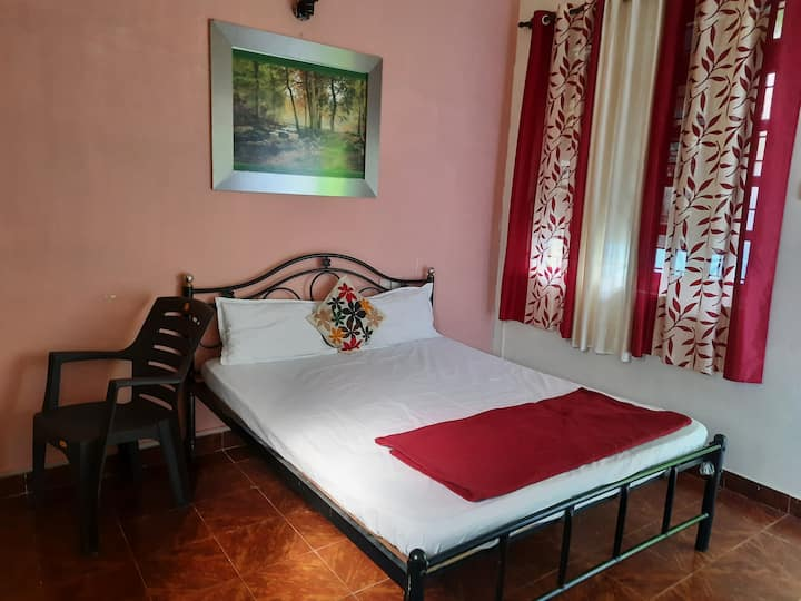 Double bed room with open terrace