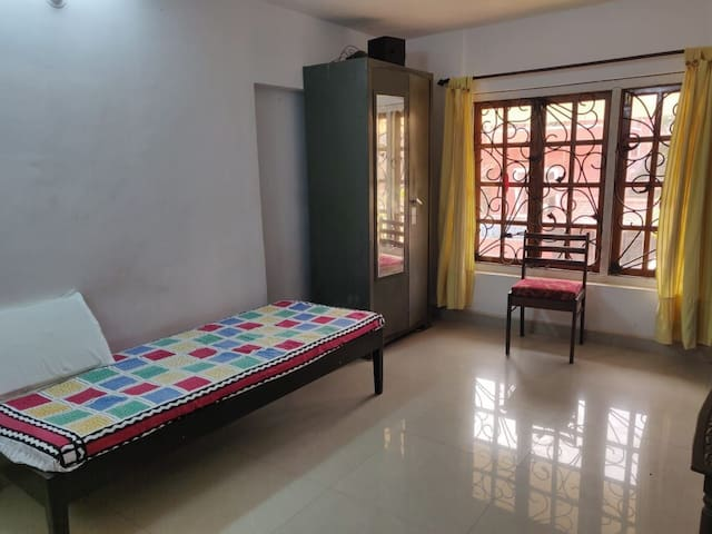 Spacious budget room (Non AC) with private Terrace