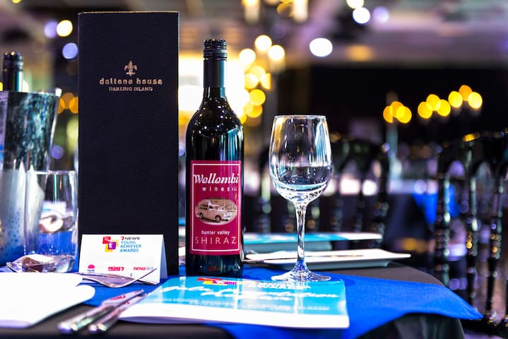 Sole supplier of wine at Channel 7 Young Achiever of the Year Awards