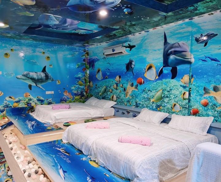 Lumut sitiawan  teluh batik Marina island 海底世界海洋主题