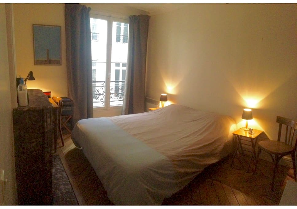 Chambre calme sur cour / Bedroom overlooking a quiet courtyard