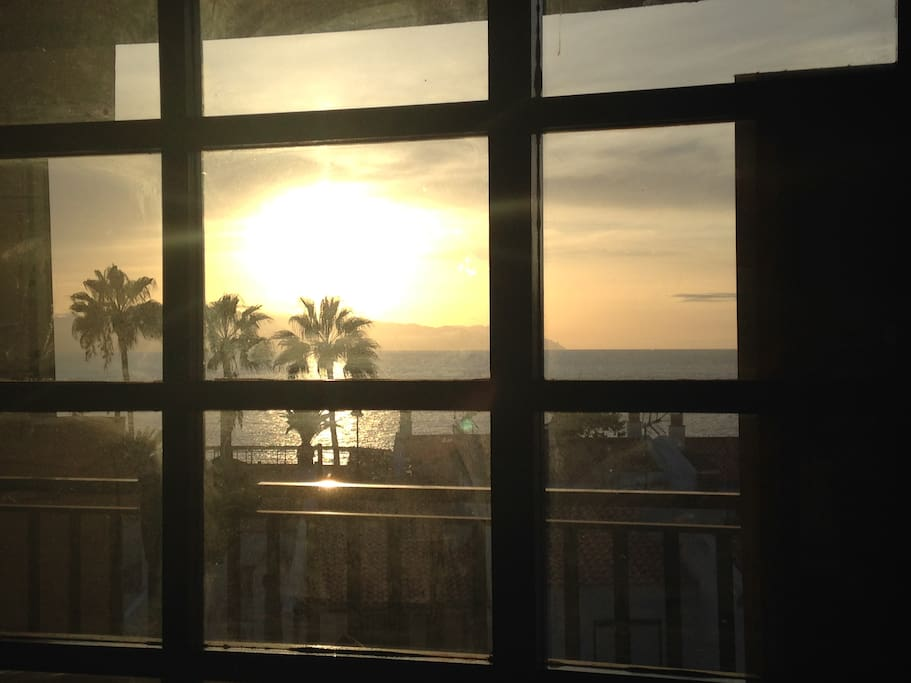 SUNSET FROM THE MAIN ROOM