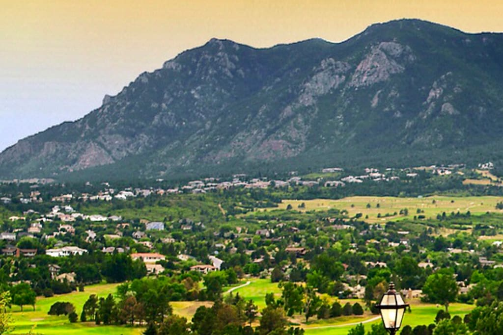 View of the house from Cheyenne Mountain Resort