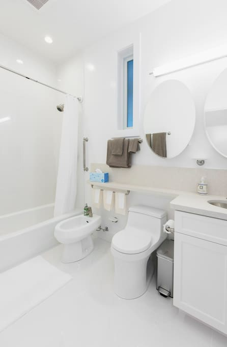 Roomy Bathroom with Bidet