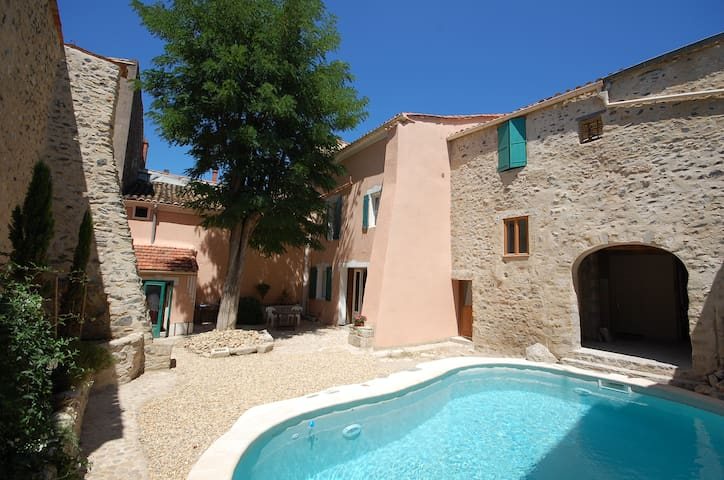 Spacious former auberge with courtyard heated pool