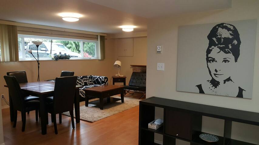 An amazing bright suite with 2 bedroom .