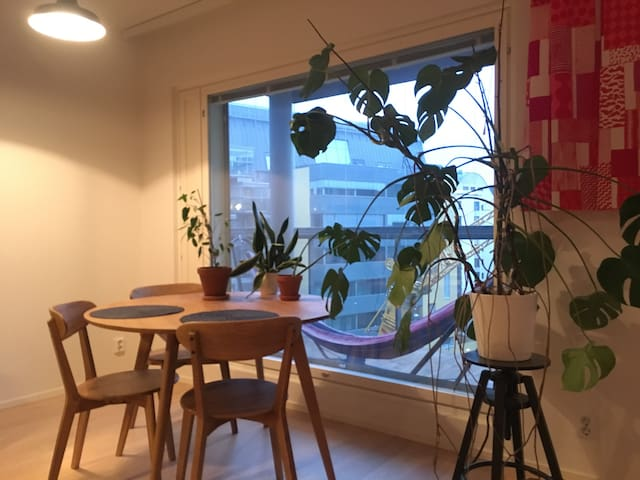 Modern studio with a sauna in the city centre