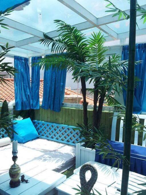 天台花园。Roof garden