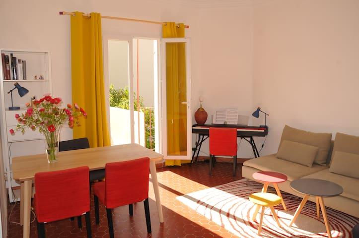 Appartement ensoleillé avec terrasse, Saint-Victor