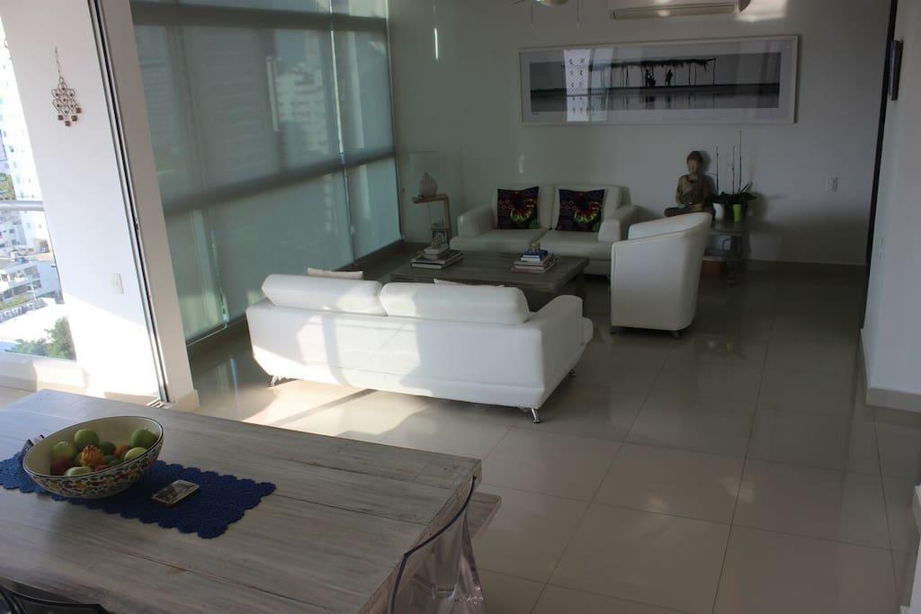 Livingroom with ocean views