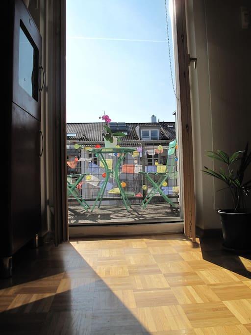We love the balcony.