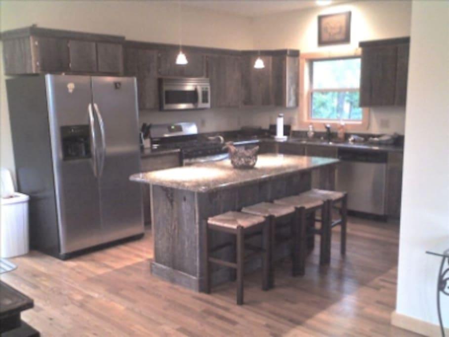 Kitchen w/ Barn Wood Cabinets