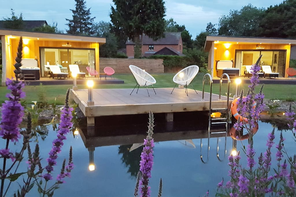 Enjoy the sunset from your own private Hot Tub