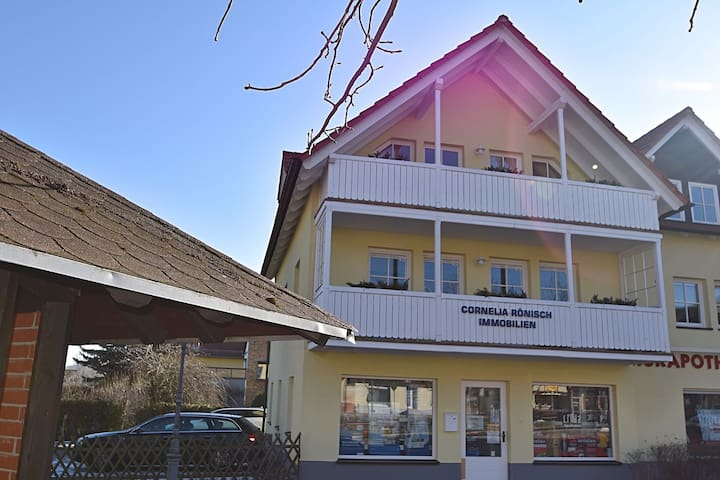 A cosy and family-friendly apartment in the centre of Bad Suderode in the Harz region.
