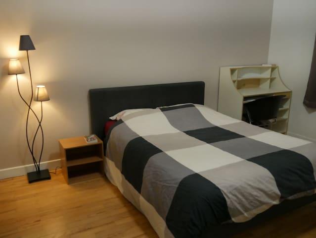 Chambre double, confort, 2min Gare, 5min center
