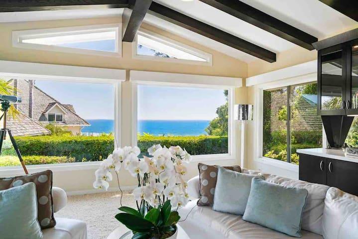 Zuma Beach House: Whitewater View, Pool & backyard