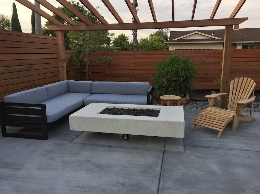 Recently remodel backyard you have access too.
