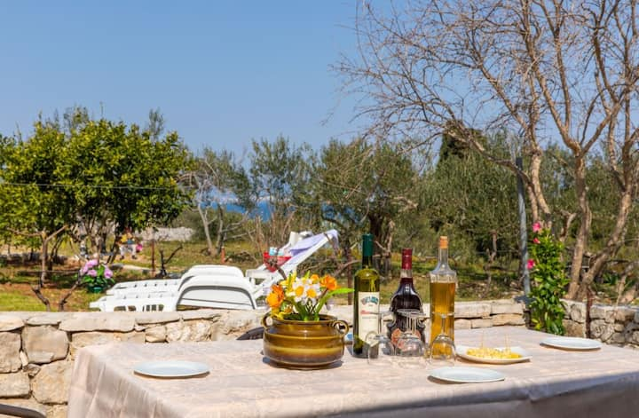 Holiday Home Ruža with Terrace and Sea View