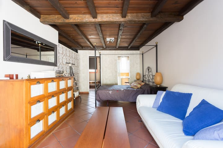 Terrace appartment. with TV area, bathroom and an individual room