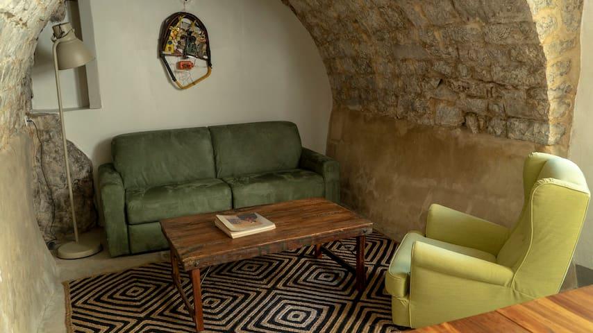 Salon, avec canapé convertible