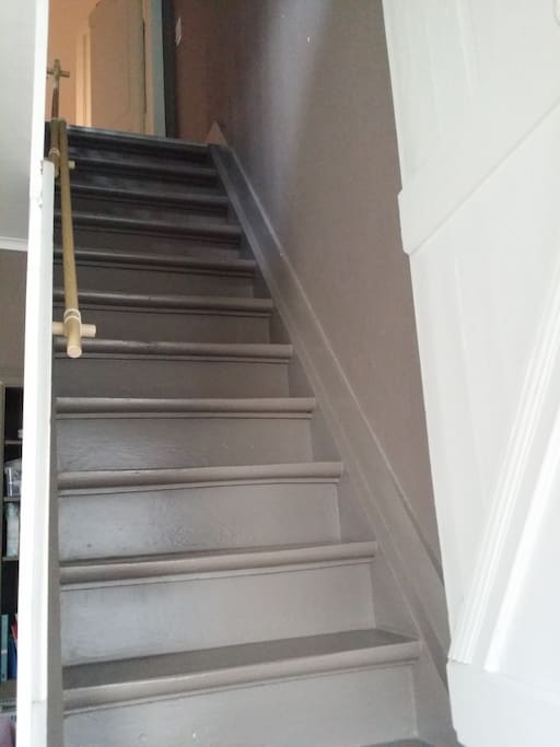 typical Belgian steep staircase