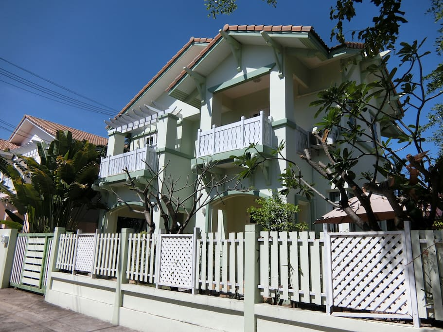 Beautiful 2 story house with pool in a quiet, guarded, and safe beach colony.