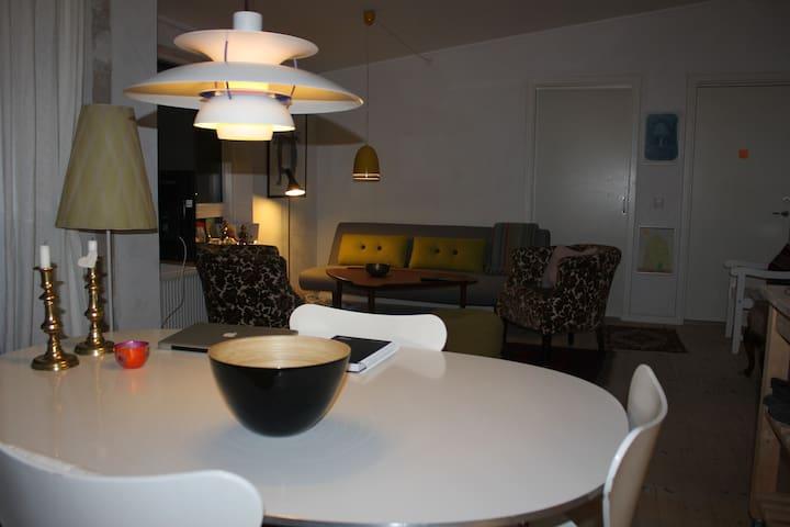 Lyst værelse med dobbeltseng, tæt på Århus, - Hjortshøj - Rumah