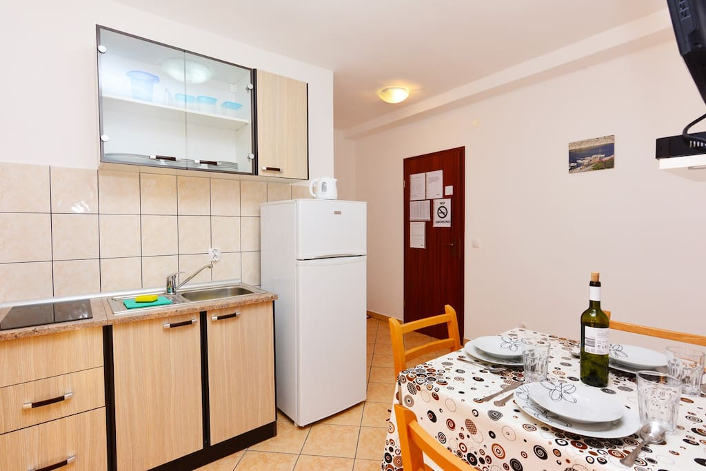 A1 Apartment Blue Beach Vodice The Kitchen