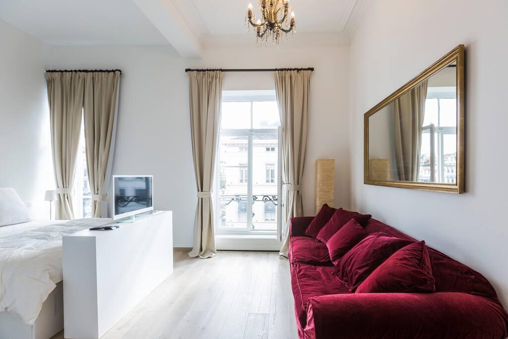 the studio brussels city center appartements louer bruxelles brussels hoofdstedelijk. Black Bedroom Furniture Sets. Home Design Ideas