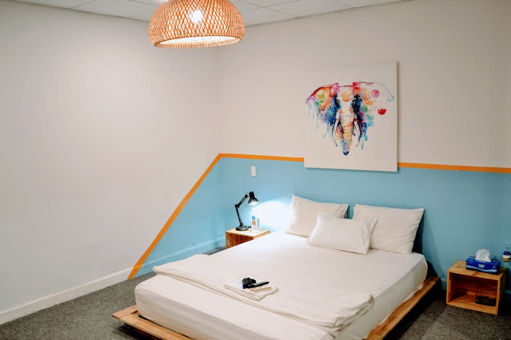 The Japanese fullsized bed with an elephant to keep you from bad dream. Your oooommm is here.