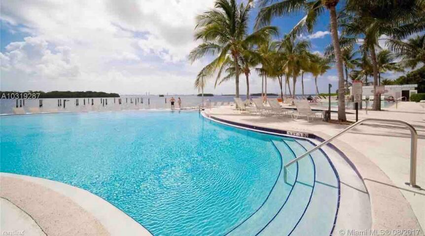Modern condominium in Miami close to bay.