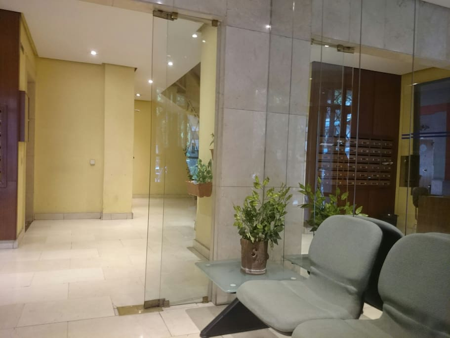 Apartment entrance and lobby