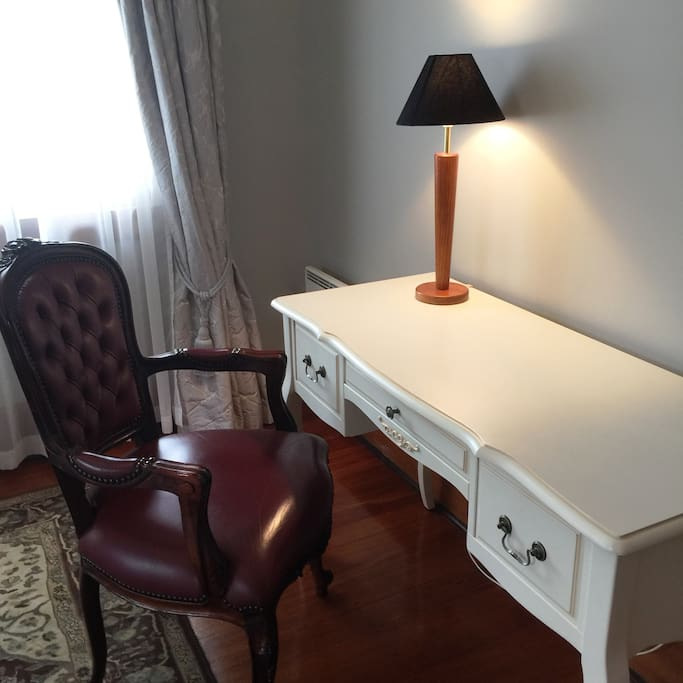 Writing desk where you can catch up on work in Fiordland room