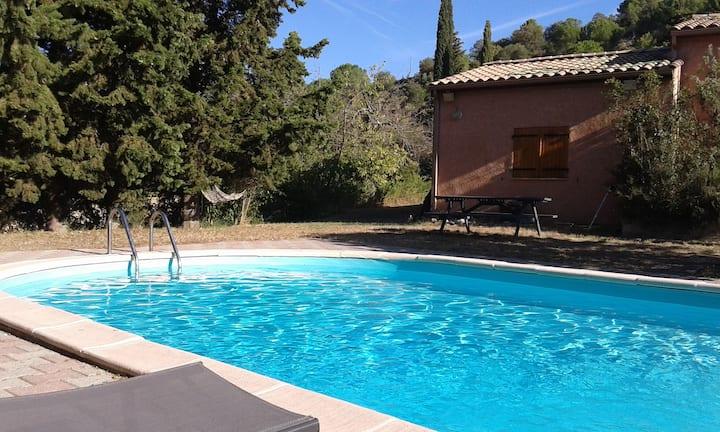 Villa avec piscine privée (6 personnes max) Limoux
