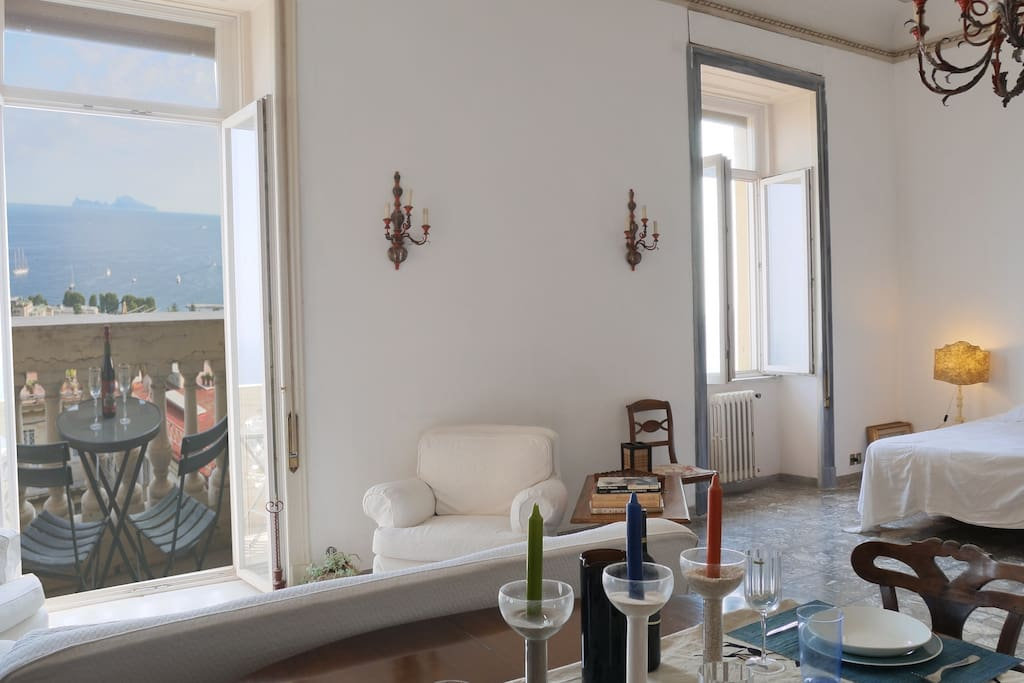 Enjoy the light airy space and stunning views from the private balcony