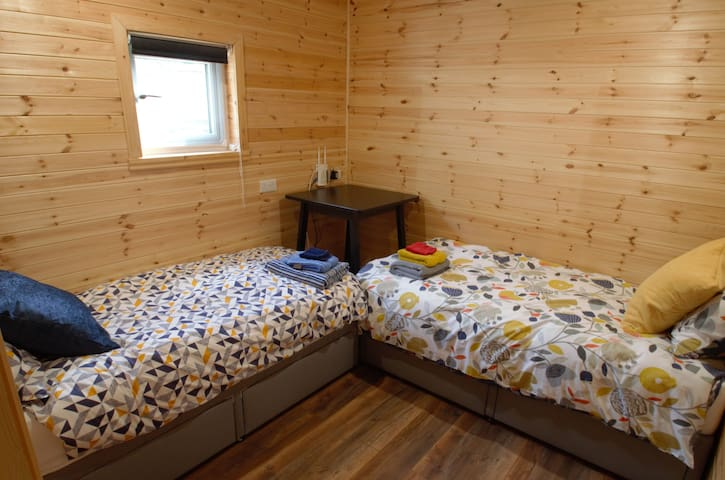 With loads of ways to be arranged, the second bedroom can house two with storage space Or swap to a combined twin in a variety of formats. Draws under the bed provide handy storage space.