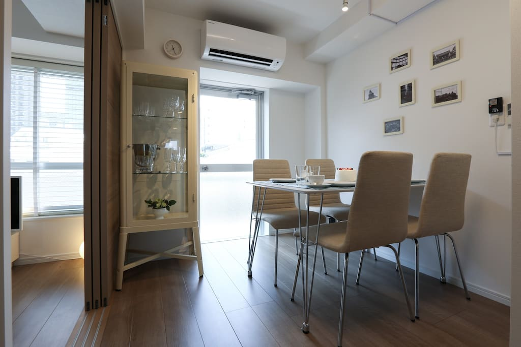 Dining Room with an Air-Conditioner ダイニングルーム エアコン完備