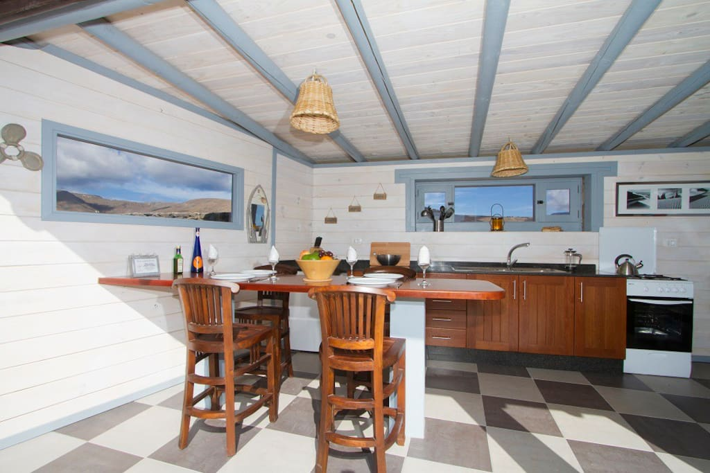 Eco Beach Yurt,  private kitchen