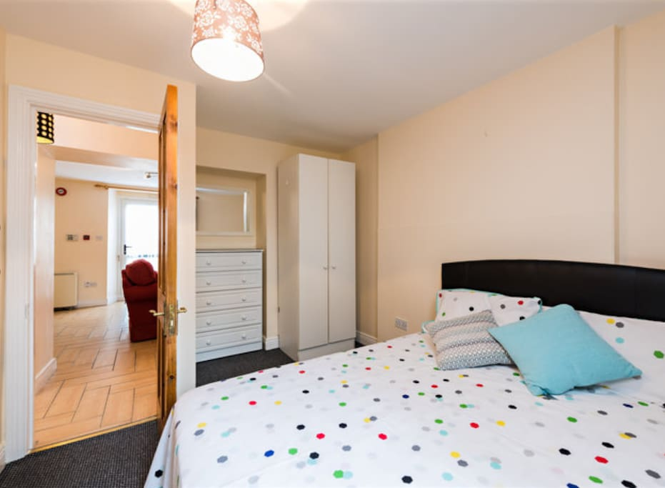 Lovely cosy room with heater and direct access to garden