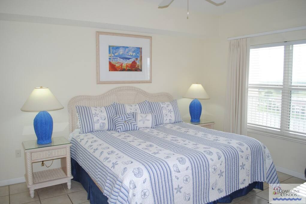 Sleep Late in the Comfy Pillowtop King in the Master Bedroom