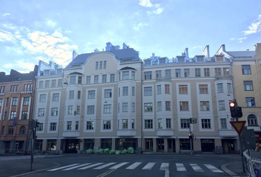 The building facade
