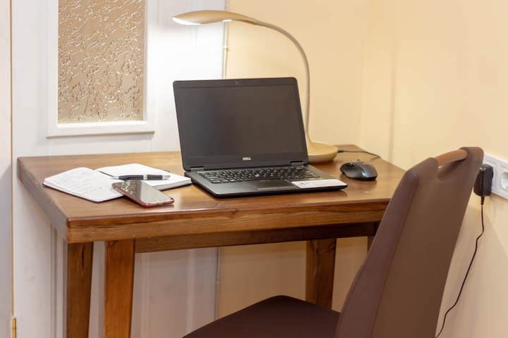 Your laptop friendly place in the living room, just in case you need to shoot out an Email before you enjoy L'viv