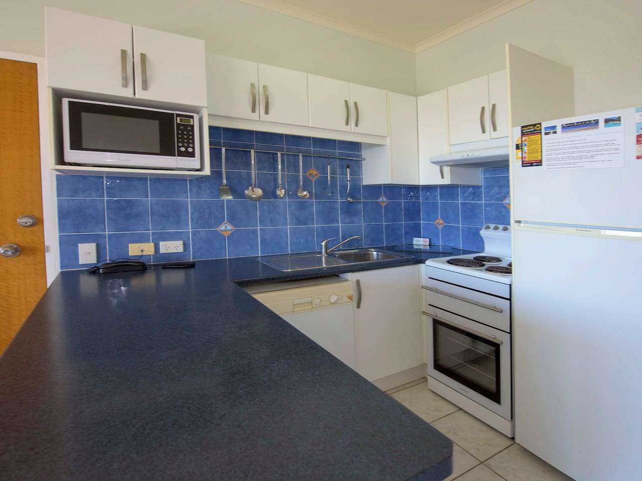 One of the 1 Bedroom Unit Kitchens