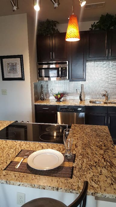 Counter top eating area