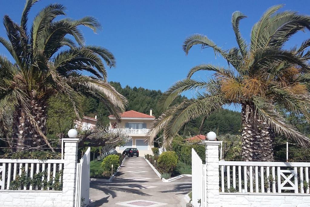 Το διαμέρισμα βρίσκεται μπροστά στην παραλία του Αχλαδοπόταμου.