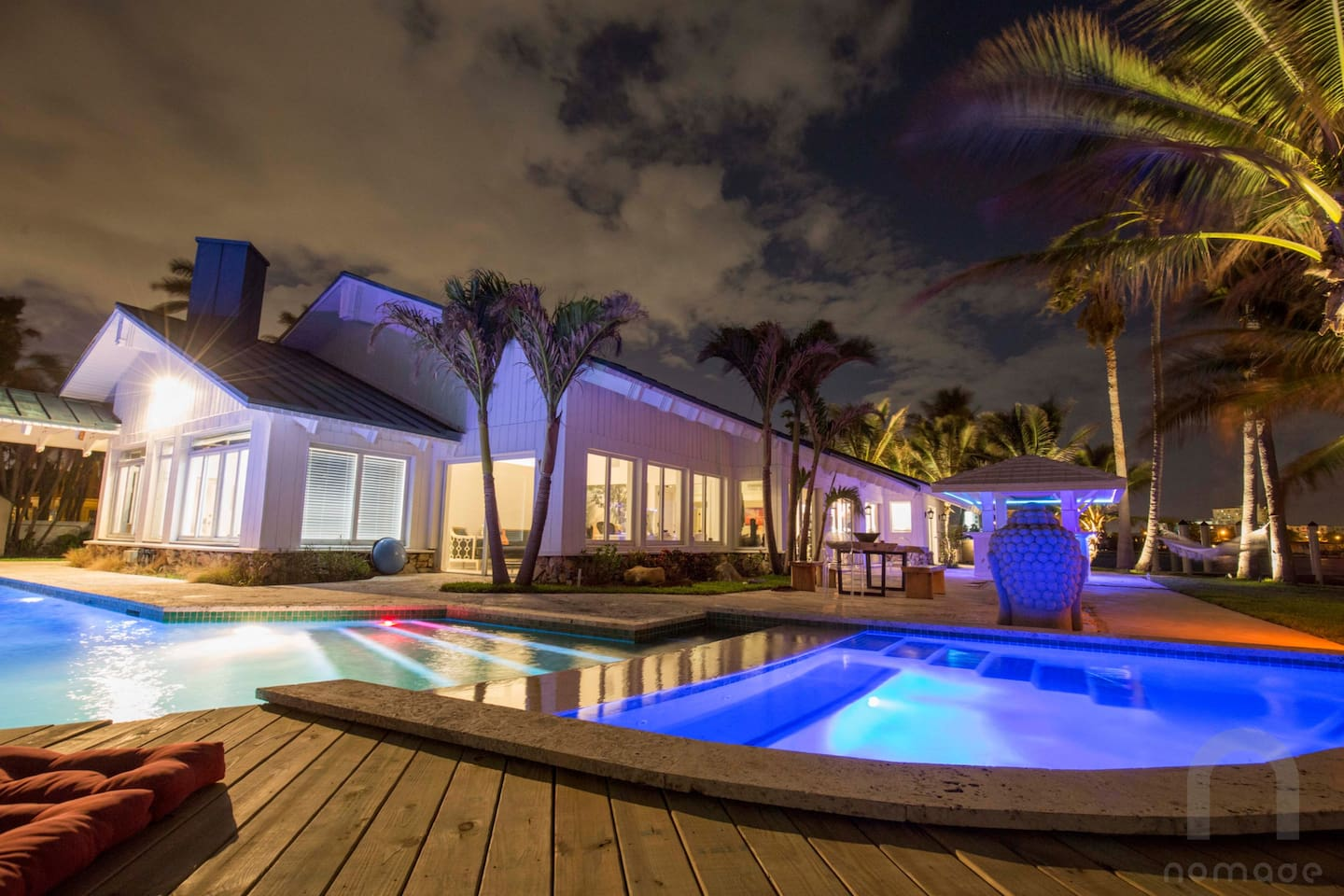 The property is simply magical at night