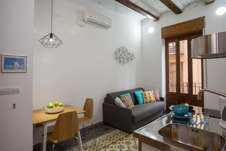 Old Town/Eco-friendly/Reformed july 2016/Wi-Fi - Valencia - Daire